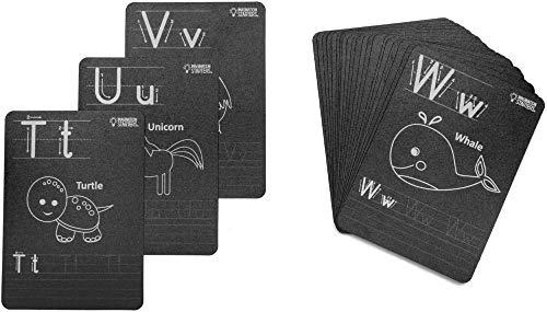 Reversible Flash Card Set 5x7 26pkg-black - Alphabet