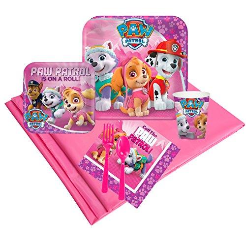 BirthdayExpress Pink Paw Patrol Girl Party Pack 24