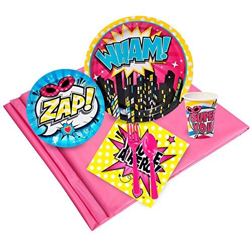 BirthdayExpress Superhero Girl Party Pack32