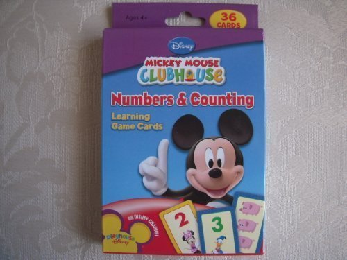 Mickey Mouse Clubhouse Numbers Counting Learning Game Cards