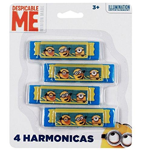 Minions Despicable Me Licensed Mini Harmonica Kids Music Instrument Toy 4pk