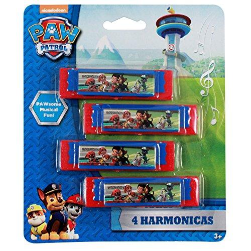 Nickelodeon Licensed Paw Patrol Mini Harmonica Kids Music Instrument 4pk Toy