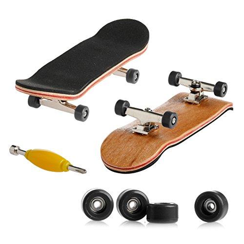 Tangc Mini Skateboard Toys - 1 x Mini Skateboard Toys Finger Board with Black Basic Bearing Wheels