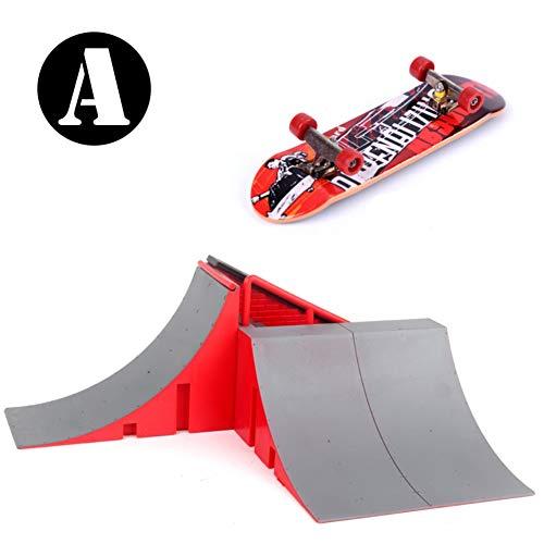 Wenasi Skate Park Kit Ramp Parts for Finger Skateboard Ultimate Parks Training Props Novelty Finger Skateboard Toys