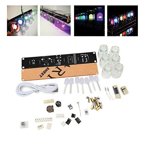 6 LEDs Novelty Signal Light Clock DIY Kit IQ EQ Development Education Learning Kit Engineer Starter toy Hobby Electronic Kit WUSB Cable ERG-8