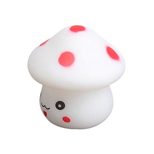 ACE Mushroom Shaped LED Novelty Lamp Night Light Colorful Changing Colors E