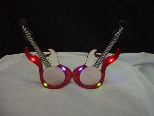 Orchard Crown Ltd Flashing Led Novelty Red Guitar Glasses fl5