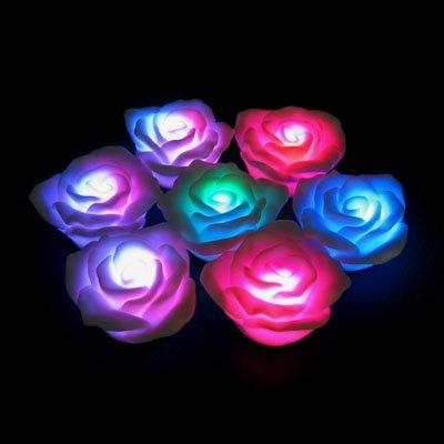 GLOW Novelty LED Lighted Floating Rose 2xpiece