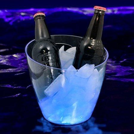 GLOW Novelty Lighted Ice Bucket Blue