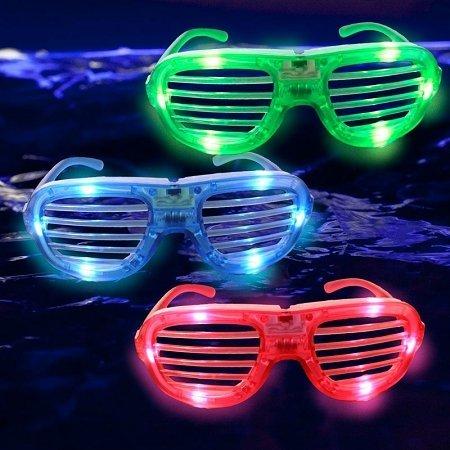 Glow Novelty LED Shutter Glasses 1 Piece
