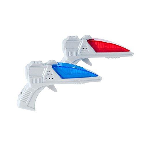 Glow Novelty Mini LED Blaster Ray Gun with Sound 2x pcs