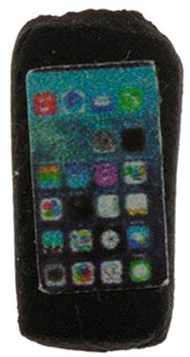 Dollhouse Miniature Black Cell Phone by International Miniatures