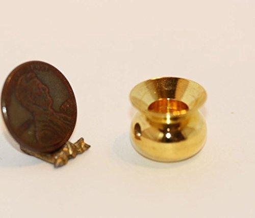 Dollhouse Miniature Brass Spittoon by International Miniatures