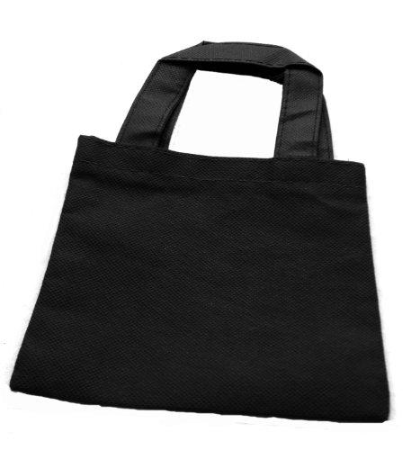 WeGlow International Miniature Tote Bags - Pack Of 12 Black