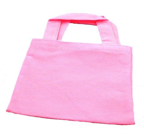 WeGlow International Miniature Tote Bags - Pack Of 12 Light Pink