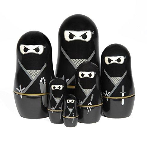 Thumbs Up Ninja Nesting Dolls Set of 6