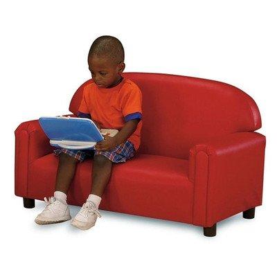 Brand New World Preschool Premium Vinyl Upholstery Sofa -Red