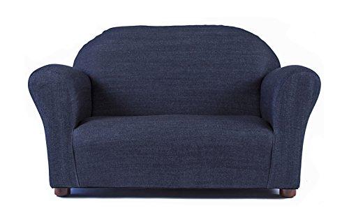 Keet Roundy Denim Childrens Sofa Blue