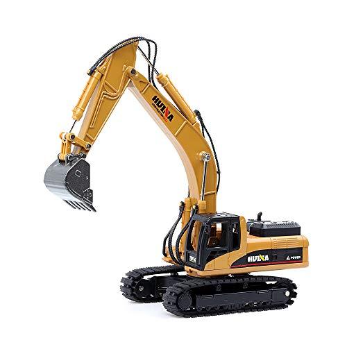 duturpo 150 Scale Diecast Crawler Excavator Metal Construction Vehicle Models Toys for Kids Crawler Excavator