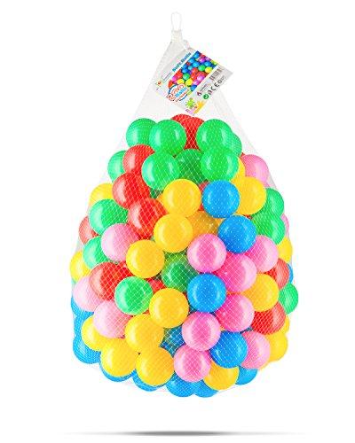 Toyniverse 200 Pack of Plastic Play Balls  Pit Balls - 23 Diameter  Non Toxic  Phthalate Free  BPA Free  Crush Proof