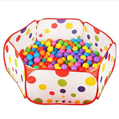 Buytra Hexagon Polka Dot Children Ball Play Pool Balls Sold Separately