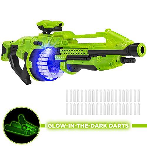 Best Choice Products Electric Foam Dart Alien Blaster Toy w 40 Glow-in-The-Dark Darts Drum Mag 45ft Range