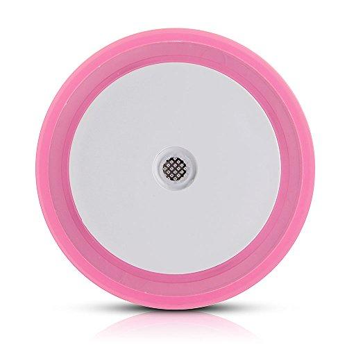 LED Pink Night Light Lamp Lighting Sensor Round Shape Room Decoration