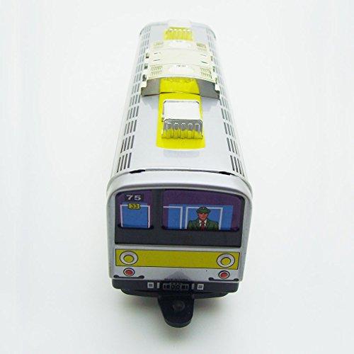 1pcs Vintage Subway Metro Train Windup Metal Tin Toy Mechanical Collectible