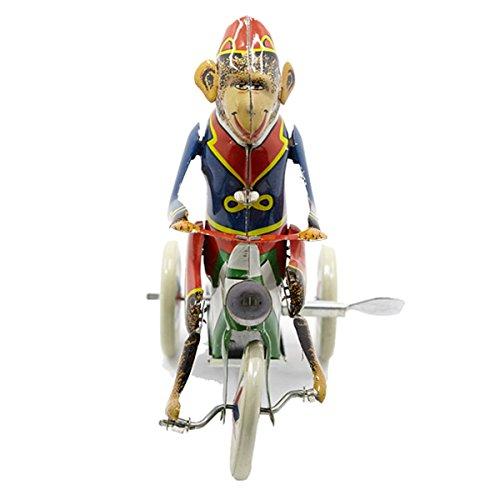 Dorongbee Vintage Tin Toy Spring Wind Up Monkey Robot
