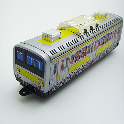 Retro Wind Up Subway Metro Train Tin Toy Vintage Perfect Collectible Gifts