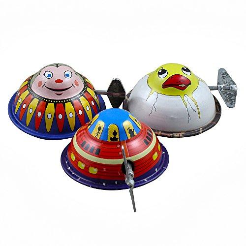 Christmas Thanksgiving Mars Patrol Wacky Metal Windup Tin Toys Collectibles Set of 3