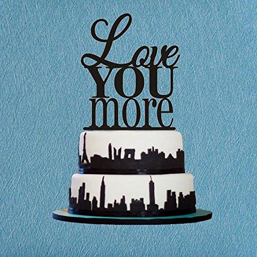 Love You More Cake TopperCustom Wedding Cake TopperRomantic Wedding Cake DecorationLove Cake TopperUnique Cake Topper Gift