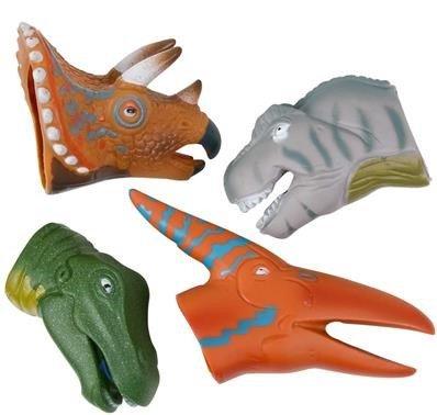 1 Dozen 3 Realistic Dinosaur Finger Puppets - Educational Dinosaur Toys - Realistic Looking Dinosaur Finger Puppet Playset 12 Piece Set - Finger Puppet Toys