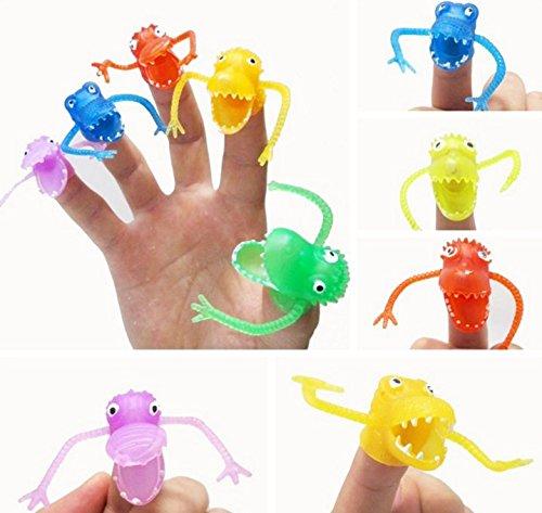 BeautyMood 20Pcslot Hot sale Dinosaur Crocodile Finger Puppet Plush Toys Children Favor toys