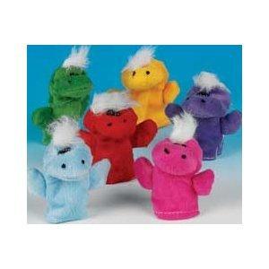 Plush Dinosaur Finger Puppets 12PKG