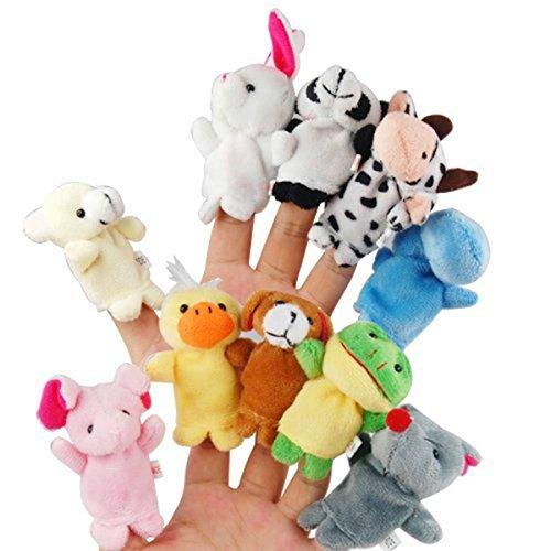 Animal Finger Puppets - FRCOLOR Cartoon Finger Puppets Set Toys for Children Shows Playtime Schools