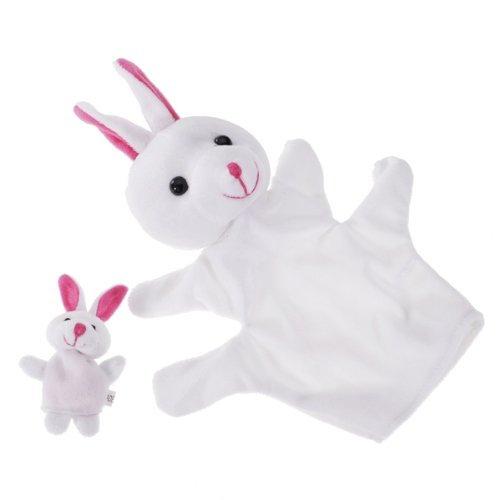 Dcolor White Rabbit Hand Puppet Finger Puppet