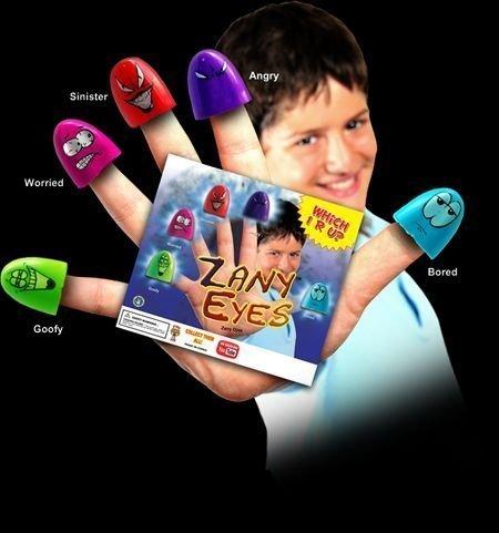 5 Zany Eyes Finger Puppets  1 bonus RARE