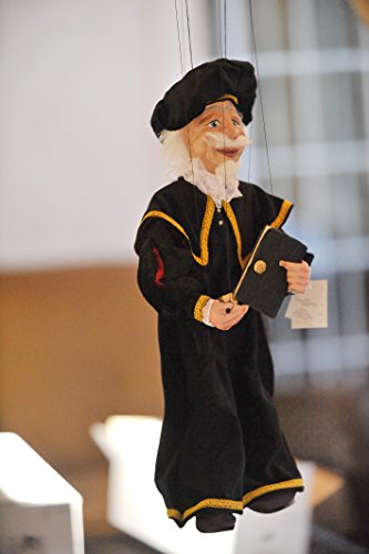 ALCHEMIST 58 Loutka Marionette String Puppets Approx 18 High Hand Made In Prague Czech Republic