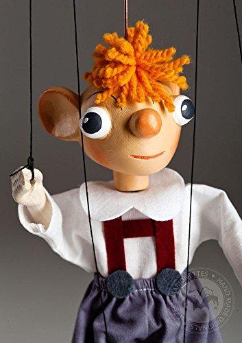 Hurvinek Small - String Puppet - Handmade Marionette