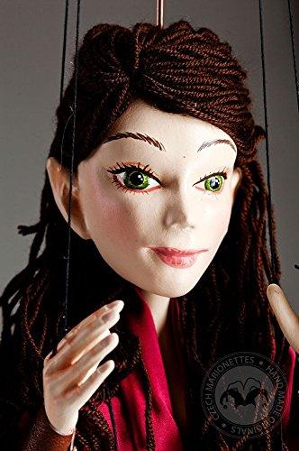 Marilla Dark-haired Elf - Czech handmade marionette string puppet