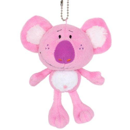 Mink plush Koala mascot with ball chain collar 12cm SB102