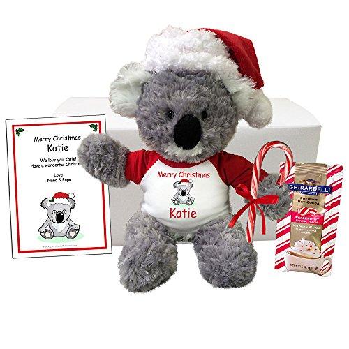Personalized Christmas Koala Gift Set - 12 Plush Koala