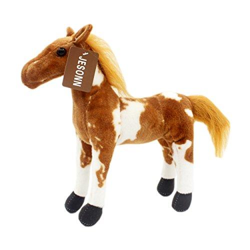 JESONN Stuffed Animals Toys Horse Plush 12 Inch Pinto Horse