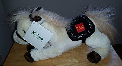 Wells Fargo El Toro Plush Pony -- Limited Edition Large Wells Fargo Plush Horse Toy Stuffed Animal