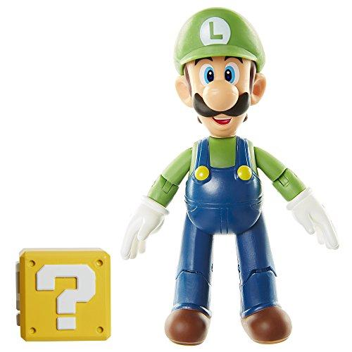 World of Nintendo 4 Luigi with Open Hands Toy Figure