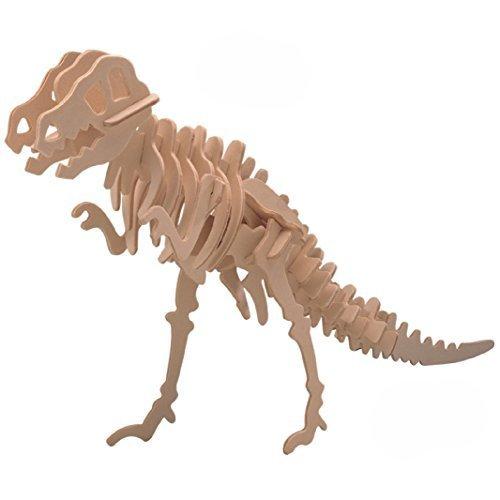Smilelove 3D Wooden Puzzle Tyrannosaurus Animal Jigsaw Puzzle T-Rex Dinosaur Model Toy