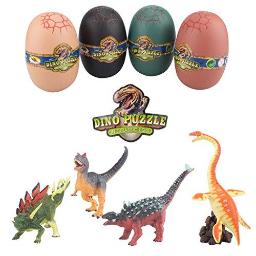 3D Dinosaur Puzzle in Jurassic Egg Assorted Pachycephalosaurus Construction Kit 96 Pieces