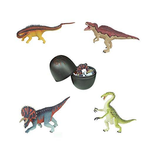 Assorted 4pcsset of Ukenn 10th Generation 3d Dinosaur Puzzles Therizinosaurs Triceratops Diplodocus Acrocanthosaurus DIY Dino Egg Kids Educational Toy 7266