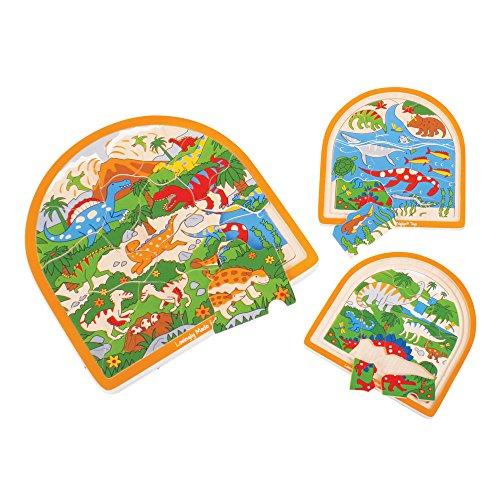 Bigjigs Toys Dino Multi Layer3 Layers Puzzle